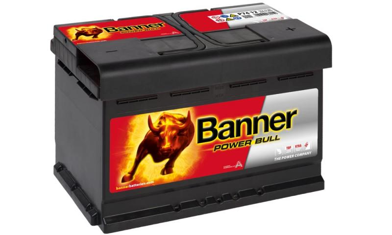 autobatterie banner power bull 12v 74ah p74 12. Black Bedroom Furniture Sets. Home Design Ideas