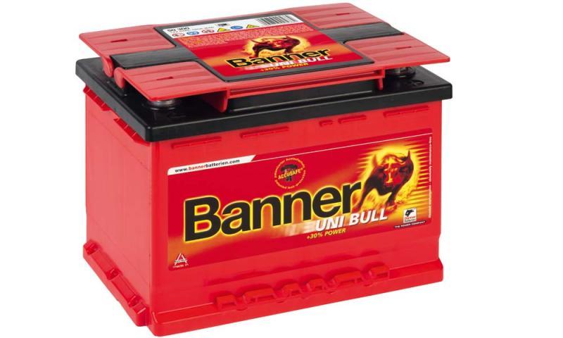 autobatterie banner uni bull 12v 69ah 50 300 autobatterien autobatterien. Black Bedroom Furniture Sets. Home Design Ideas
