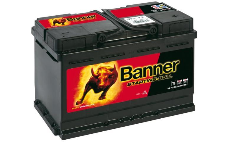 autobatterie banner starting bull 12v 72ah 572 12. Black Bedroom Furniture Sets. Home Design Ideas